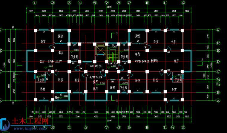 9层3060平米某框架结构住宅楼毕业设计含施工组织