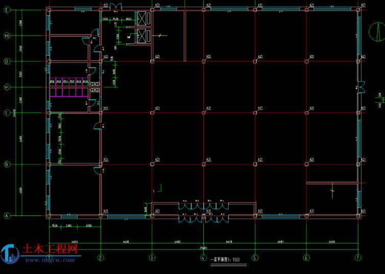 3层2820平米哈尔滨市某百货大楼毕业设计