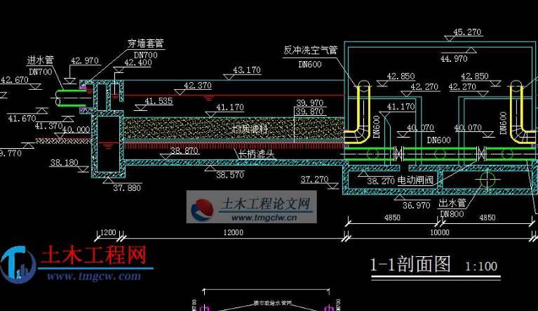 安徽省某市给水厂毕业设计
