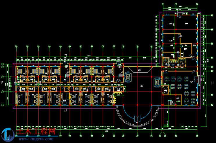 5层5820平米秦皇岛宾馆毕业设计全套