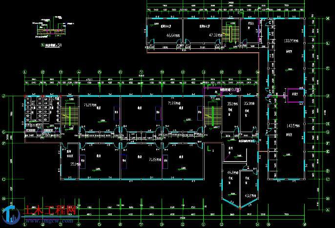 jx002【3层】4184平米框架结构教学楼毕业设计(含施组)