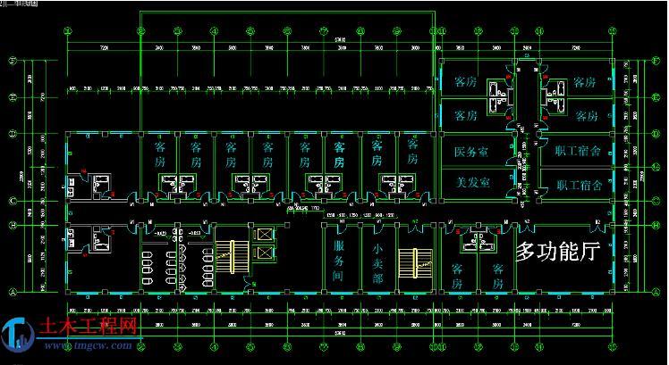 jd002【8层】6500平米河南某框架旅馆毕业设计