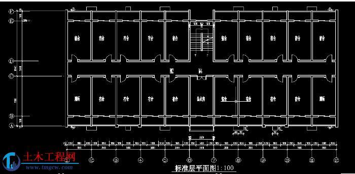 5层4109平米秦皇岛某砖混宿舍楼毕业设计含施组概预算