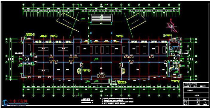 4层3611平米浙江千岛湖框架结构办公楼毕业设计