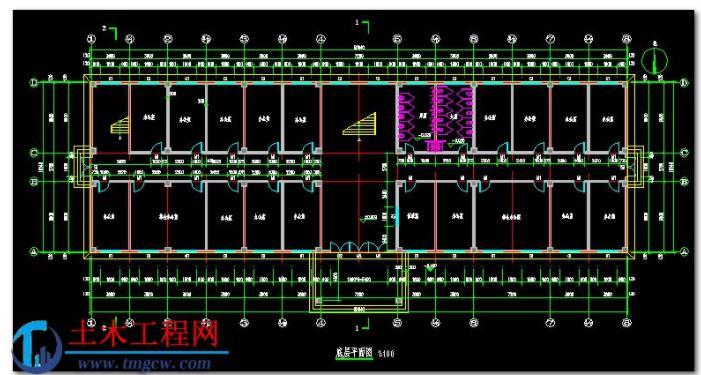 5层4006平米西安市某框架结构办公楼毕业设计