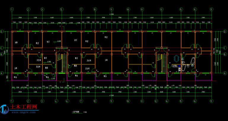 6层3000平米沈阳一字型框架住宅毕业设计
