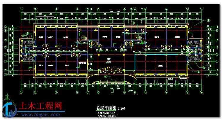 5层4402平米广州市某框架结构办公楼毕业设计