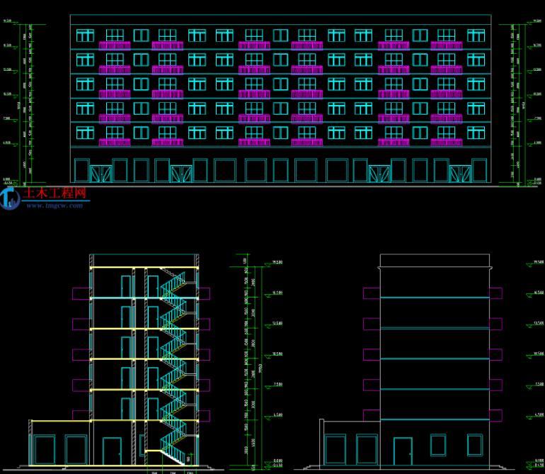 6层3463平米长沙某临街商住楼毕业设计含施工组织设计