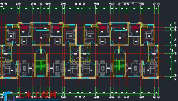 6层4786平米框架结构住宅楼毕业设计