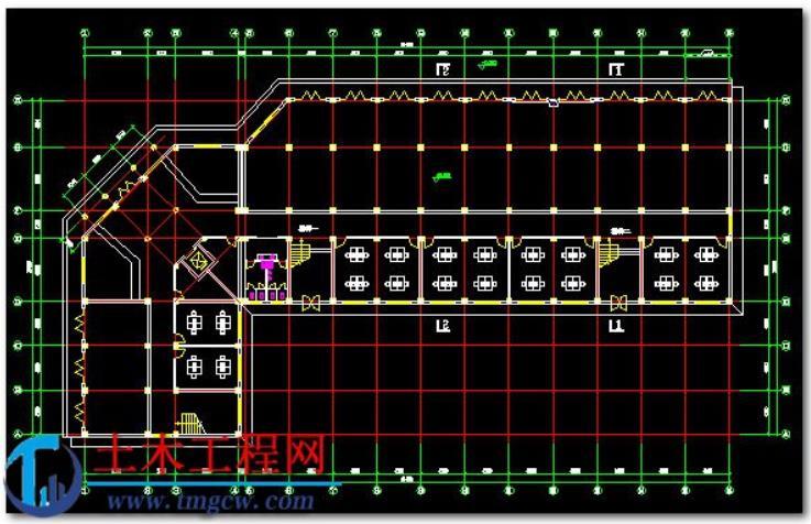5层4700平米济南市框架结构办公楼毕业设计含施工组织设计
