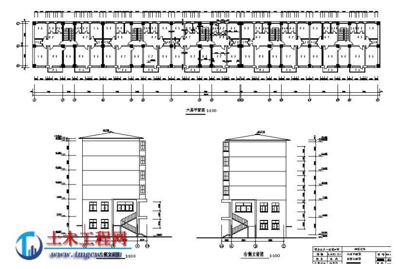 6层6000平米黑龙江框架结构综合住宅楼毕业设计
