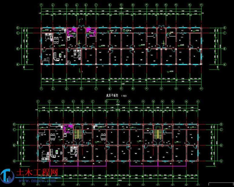 5层3285平米山东省某框架结构住宅毕业设计