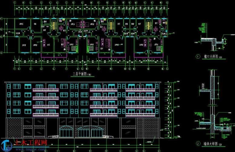 6层2948平米南昌框架结构商住楼毕业设计