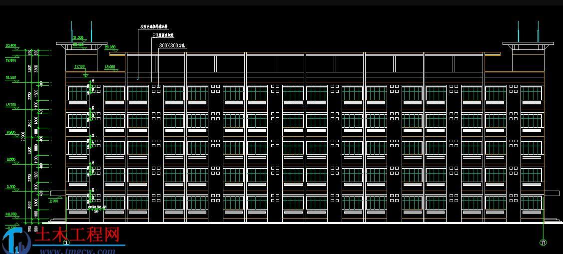 5层4723平米西安某高校学生公寓毕业设计