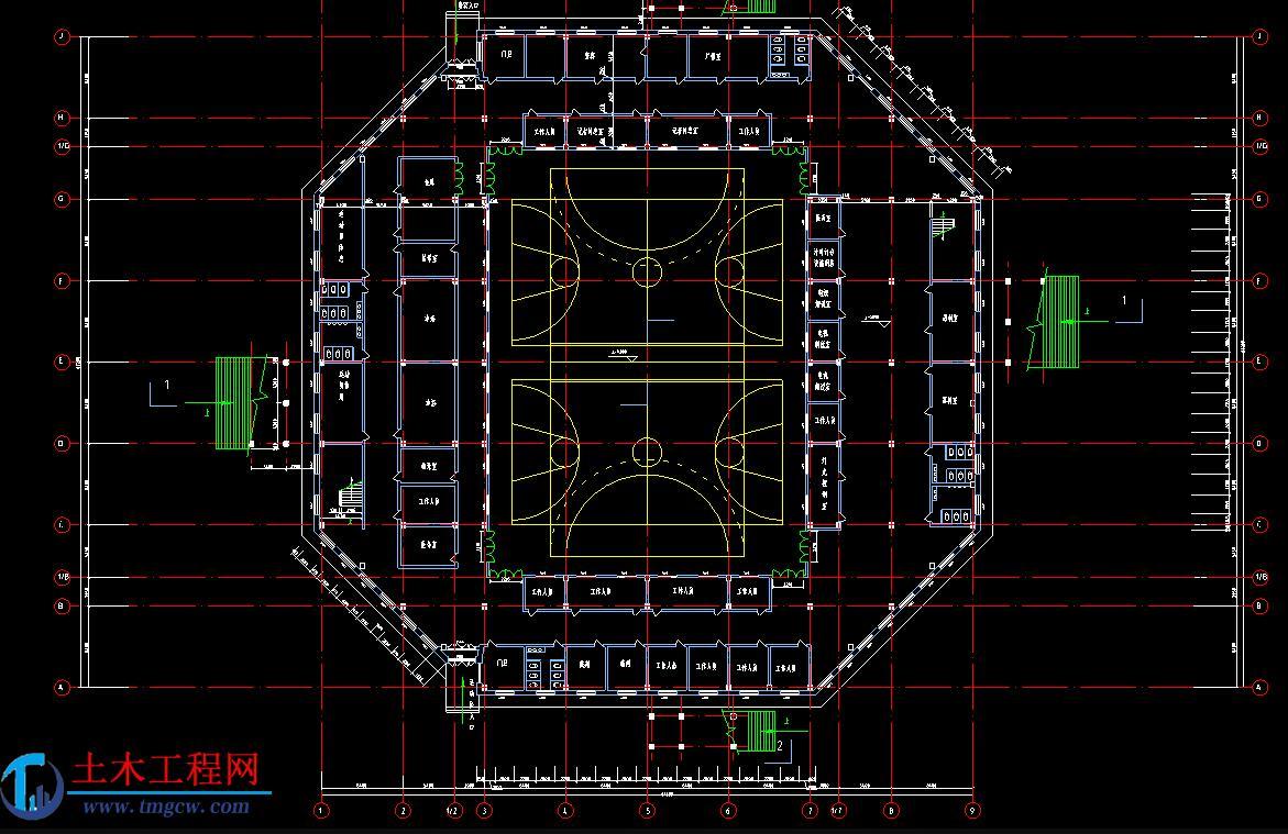 哈尔滨市某网架结构体育馆毕业设计