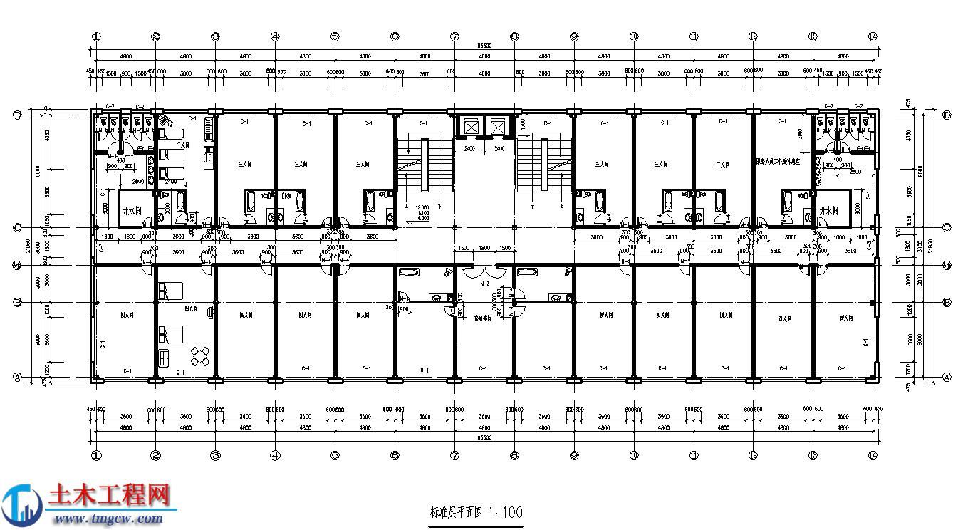 jd003【5层】6800平米沈阳市某钢框架宾馆毕业设计