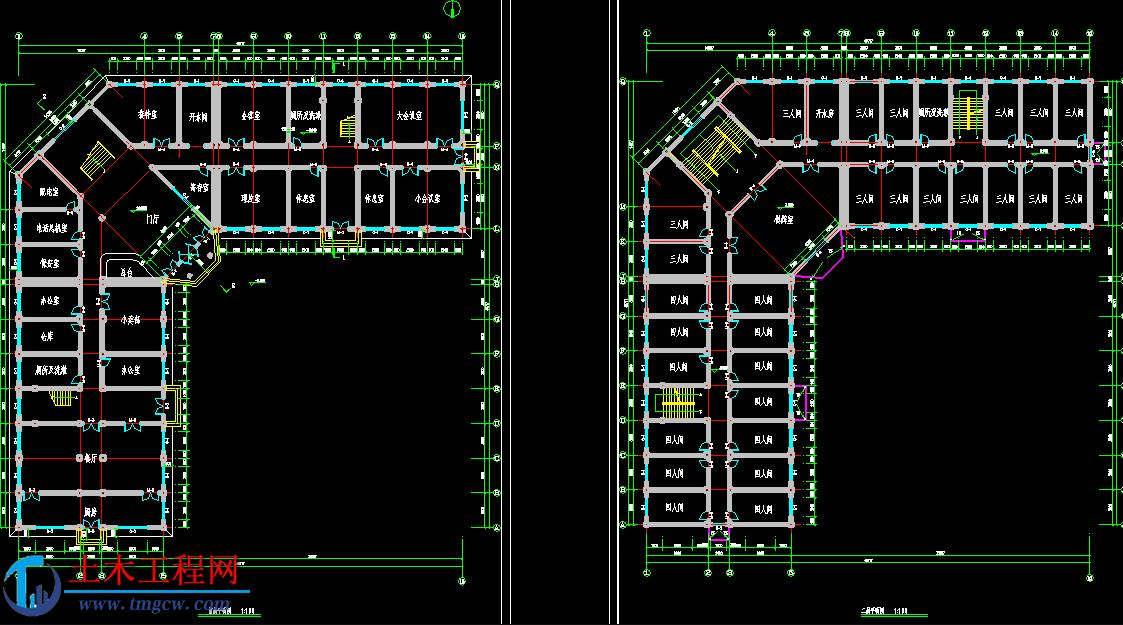 5层6500平米山西阳泉市框架结构旅馆毕业设计