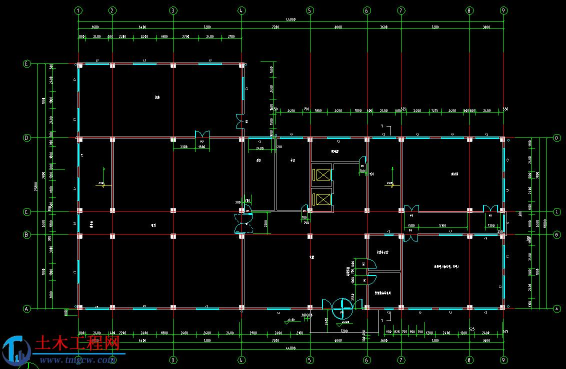 6层5000平米江苏框架结构宾馆毕业设计
