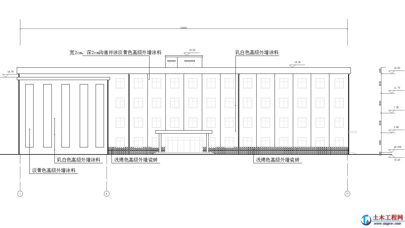 4层5100平米郑州L形框架结构教学楼毕业设计