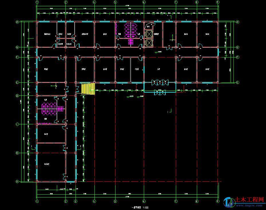 5层5708平方米沈阳市办公楼框架结构毕业设计含施工组织设计
