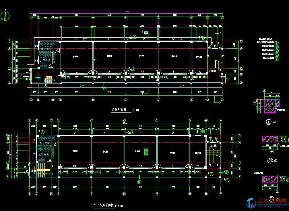 5层2750平米深圳龙岗实验中学教学楼毕业设计