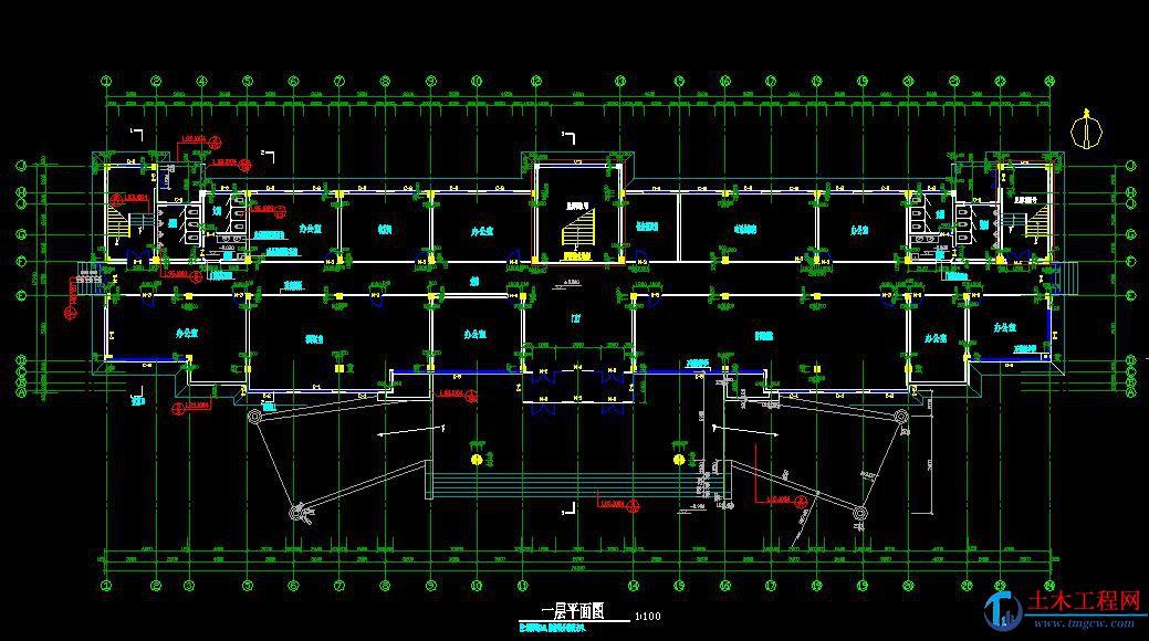 5层5332平米沈阳某框架结构办公楼毕业设计