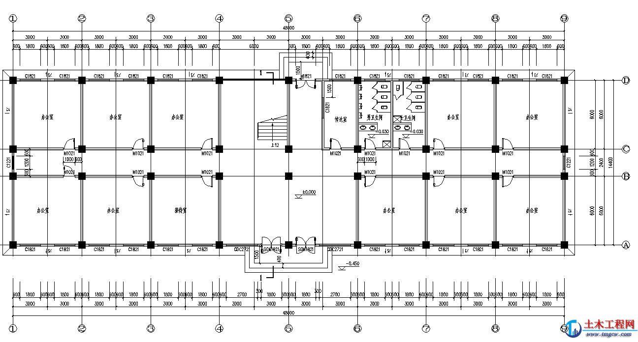 6层4347平米四川某政府办公楼毕业设计含PKPM施工组织设计