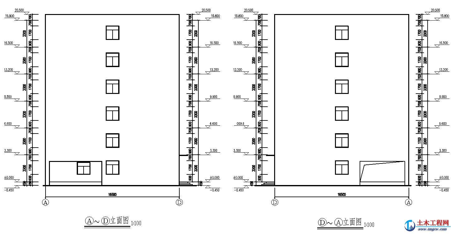 ss013【6层】2097平米广州市某宿舍楼毕业设计