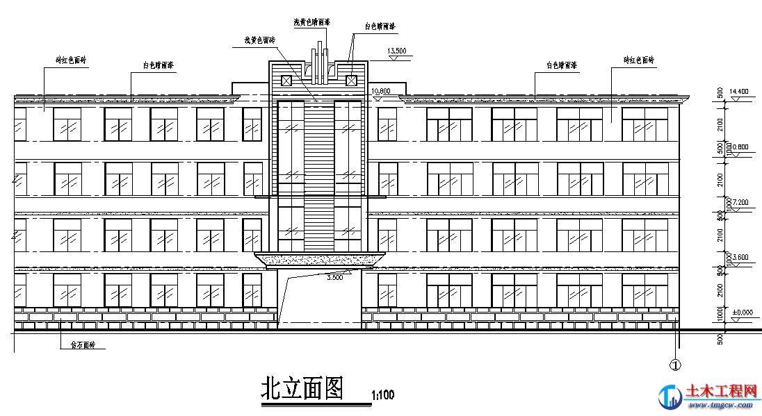 4层2205平米贵阳市某中心教学楼毕业设计