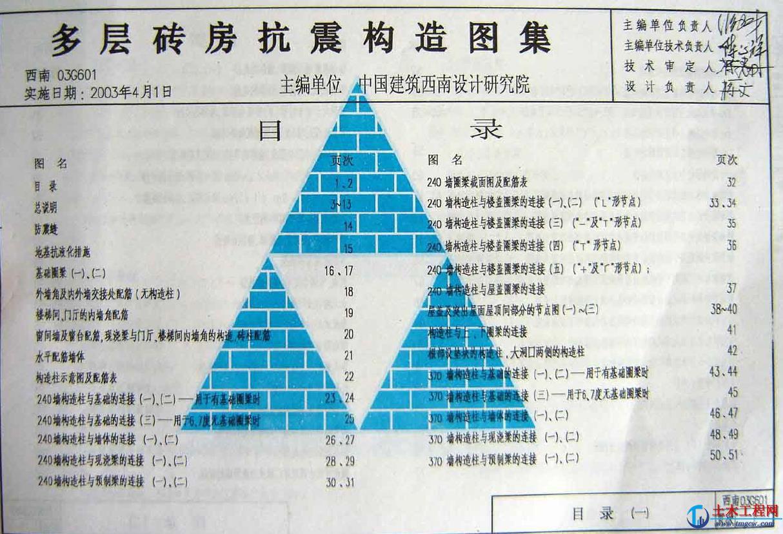 西南03G601(多层砖房抗震构造图集).pdf