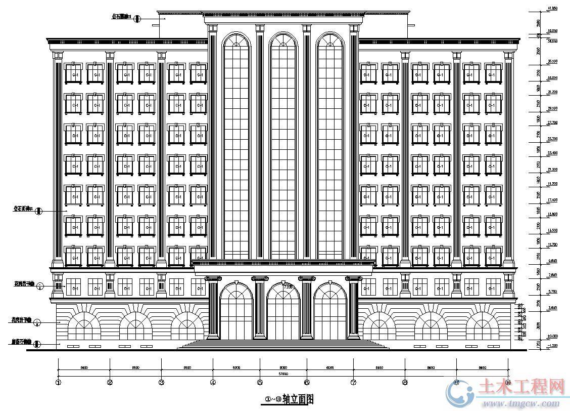 11层10174平米济南某框剪结构高层办公楼毕业设计