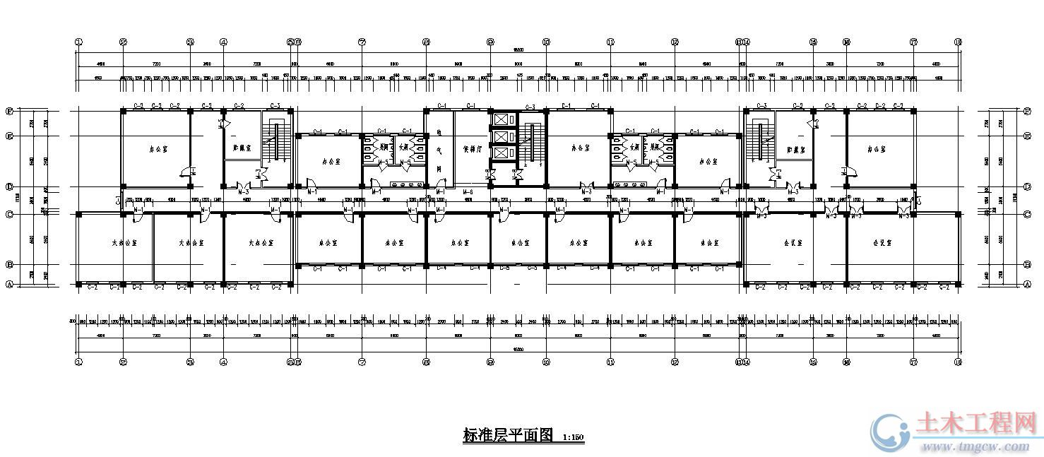 9层13444平米某市政府办公大楼毕业设计