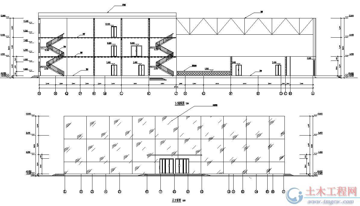 3层5184平米黑龙江大庆某钢结构休闲娱乐中心毕业设计
