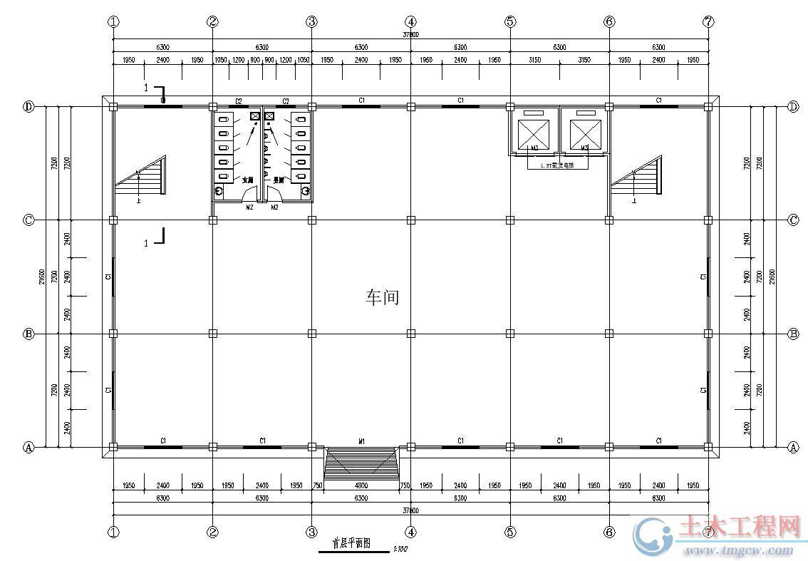某3层2500平米厂房毕业设计