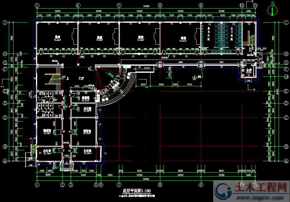 4层4019平米某框架结构中学教学楼毕业设计