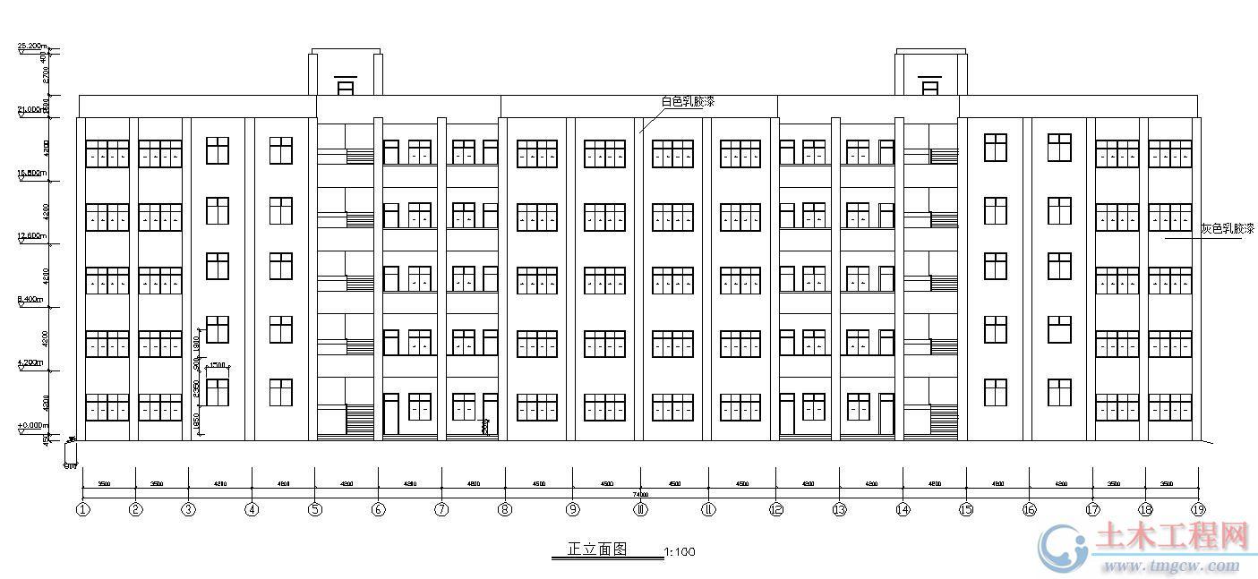 5层6150平米西南某抗震设防7度框架结构中学教学楼毕业设计