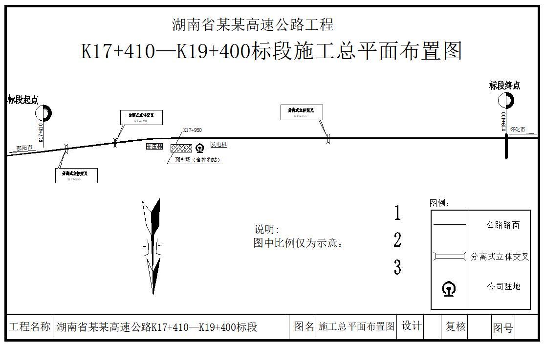 总长1990米四车道高速公路路基宽28米施工组织设计及工程量清单