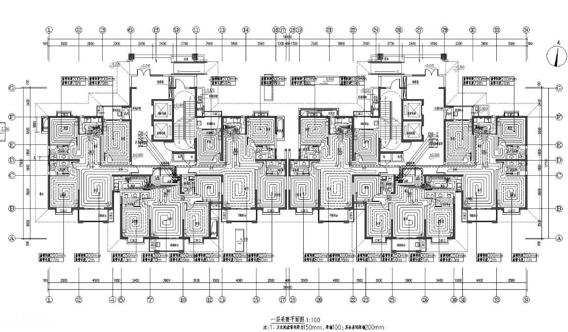2019年设计的24层住宅楼暖通设计施工图全套
