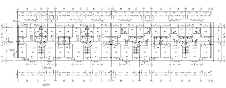 6层住宅楼现代风格建筑施工图纸免费下载