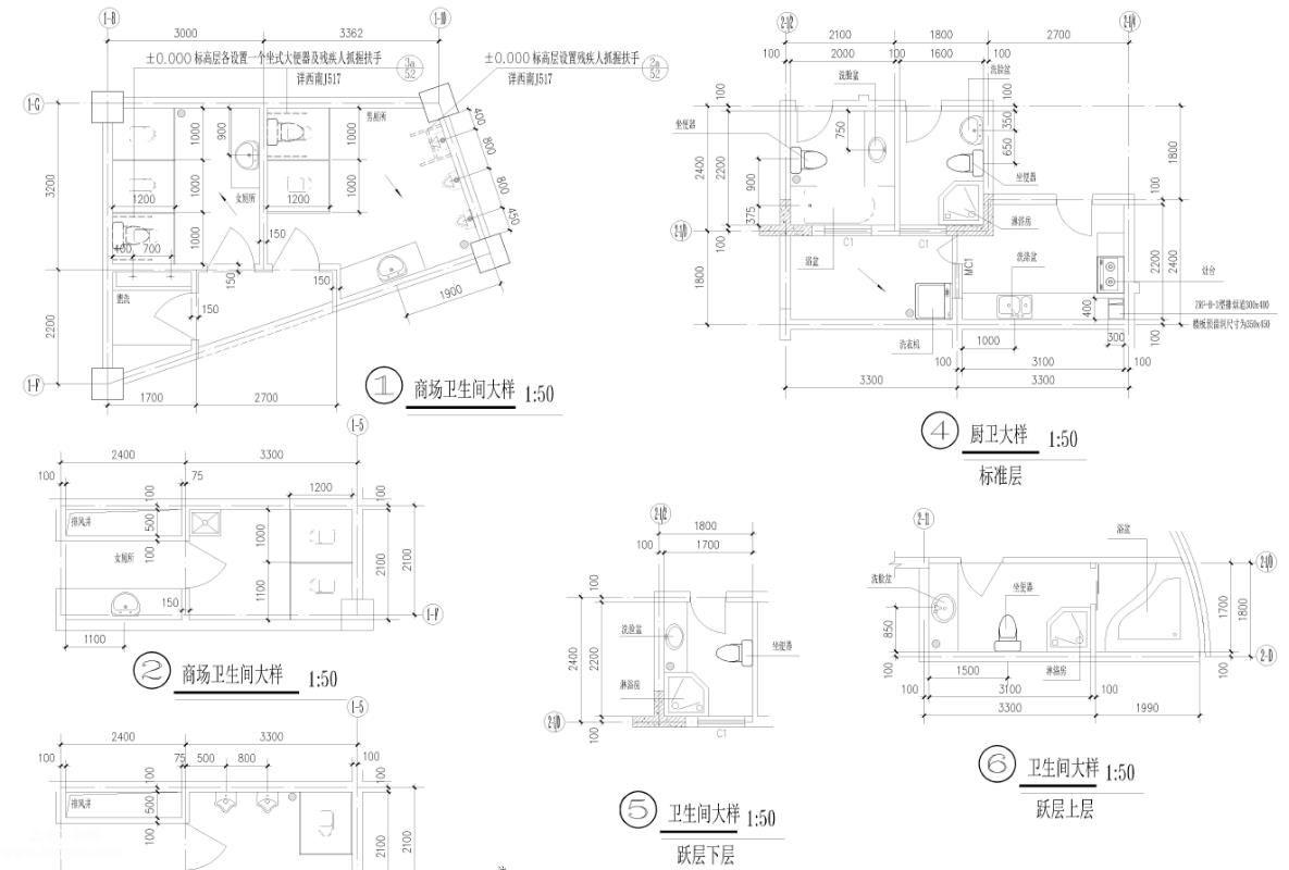某28层带商场框架结构建施施工图纸全套