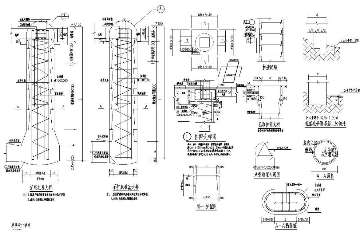 某中学综合阶梯教室结构施工图cad格式免费下载