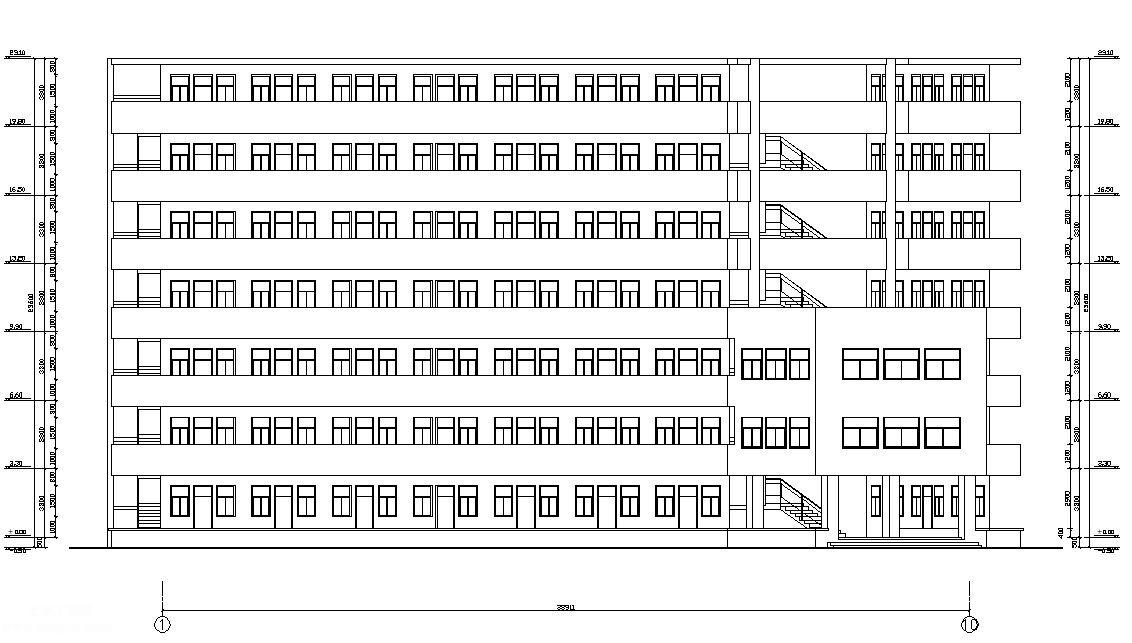 7层3237平方米Y字形框架结构宿舍楼毕业设计