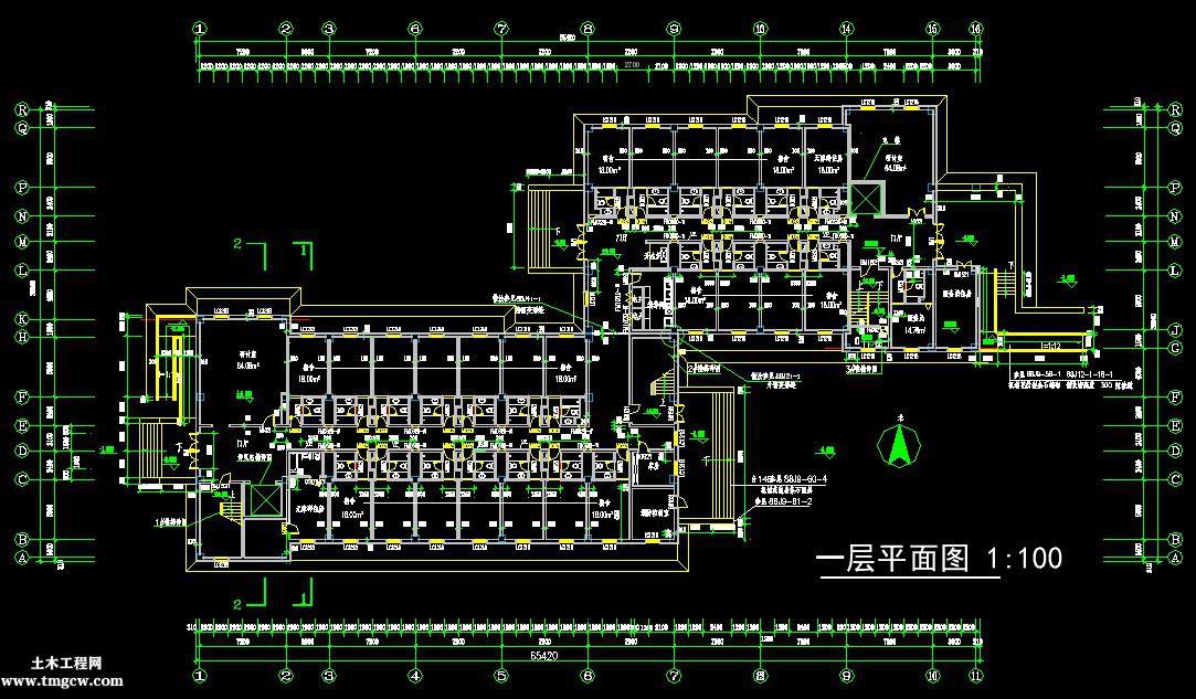 8层10400平米河南某框架结构进修学校宿舍楼毕业设计