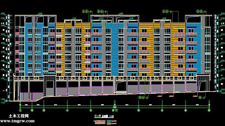 某生产队安置房建筑结构设计图27张图纸
