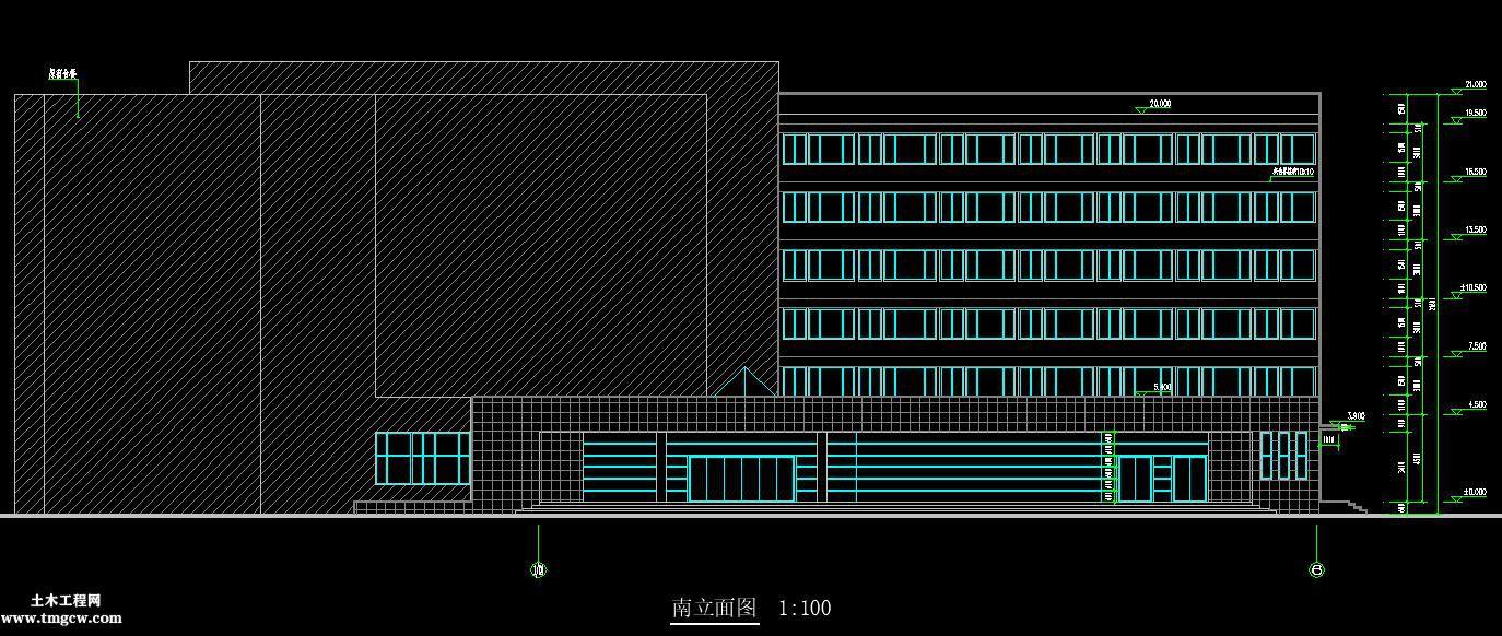 济南某综合楼扩建工程全套施工图水电气设备图