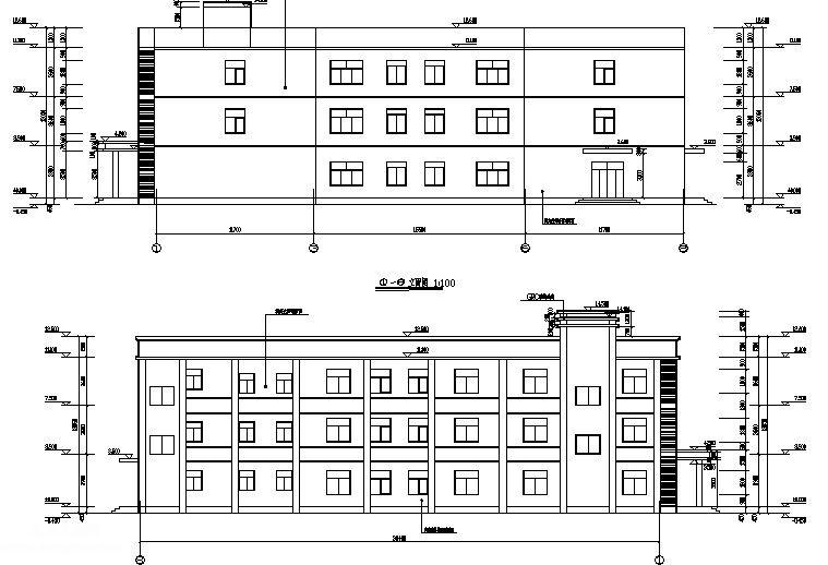 四川某建材公司办公楼全套图纸含电气排水图