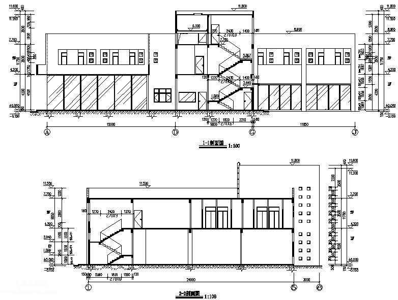 肇庆市某钢结构办公楼全套图纸含电气排水图