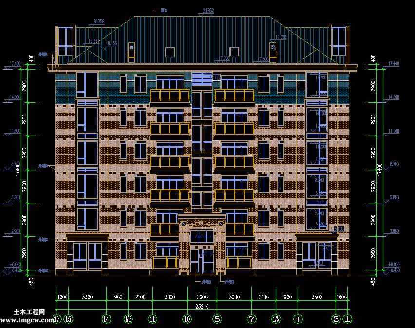 合肥某七层框架异型柱住宅全套图纸含建筑、结构、设备图纸