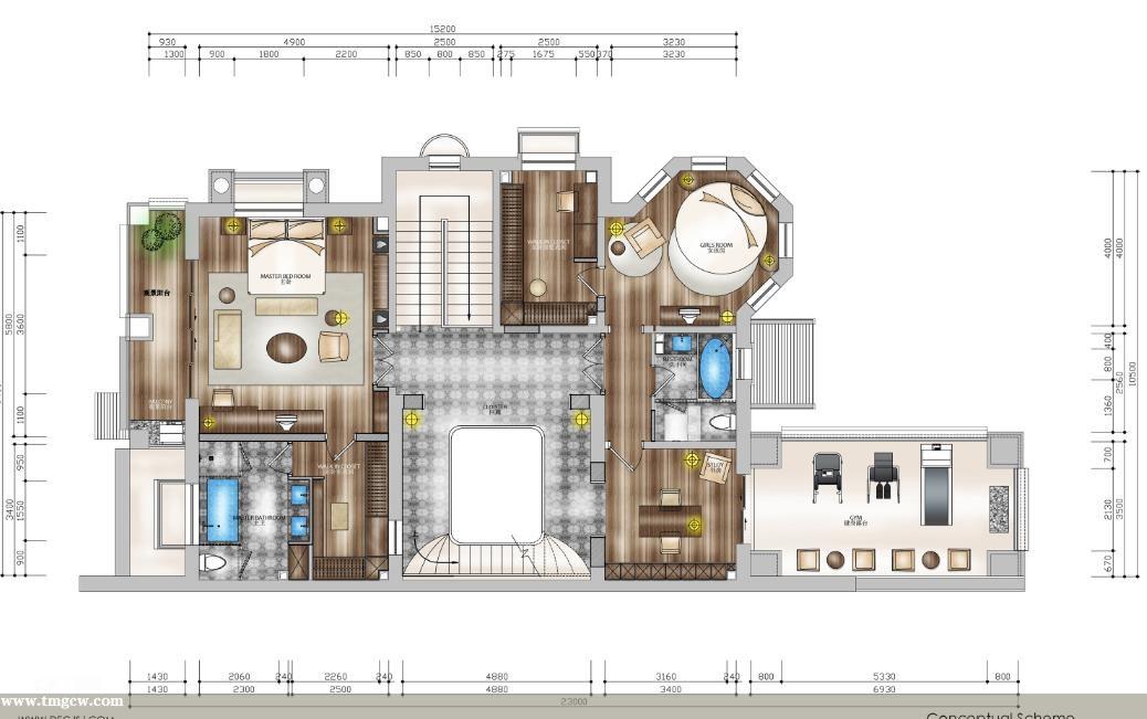 河北保定红山庄园新古典别墅施工图含效果图