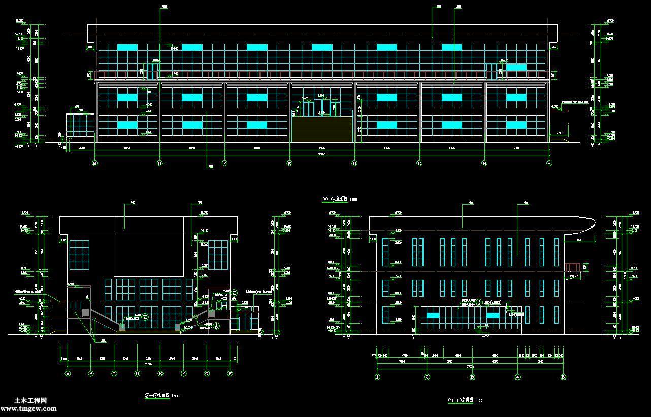 3层3804平米三层框架办公楼工程预算书含施工图